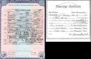 Suzy and Max's Marriage Certificate